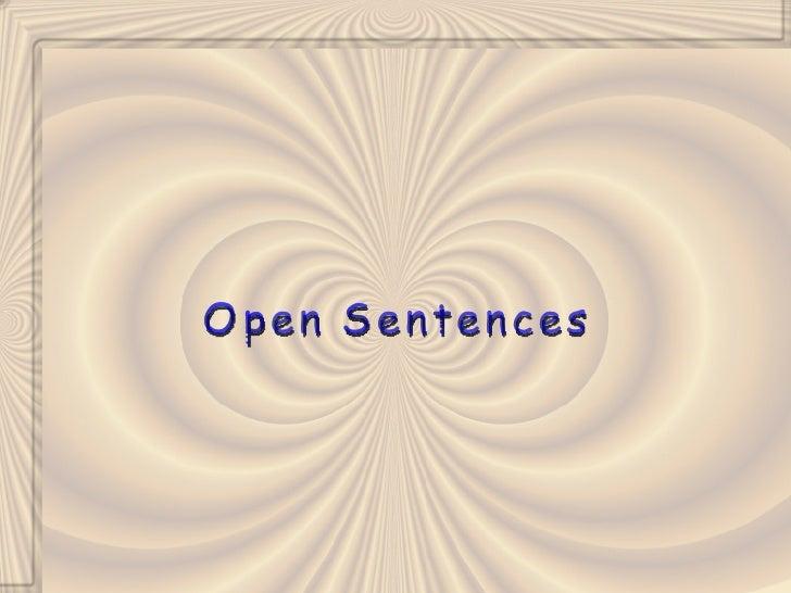 Open Sentences (Algebra1 1_3)
