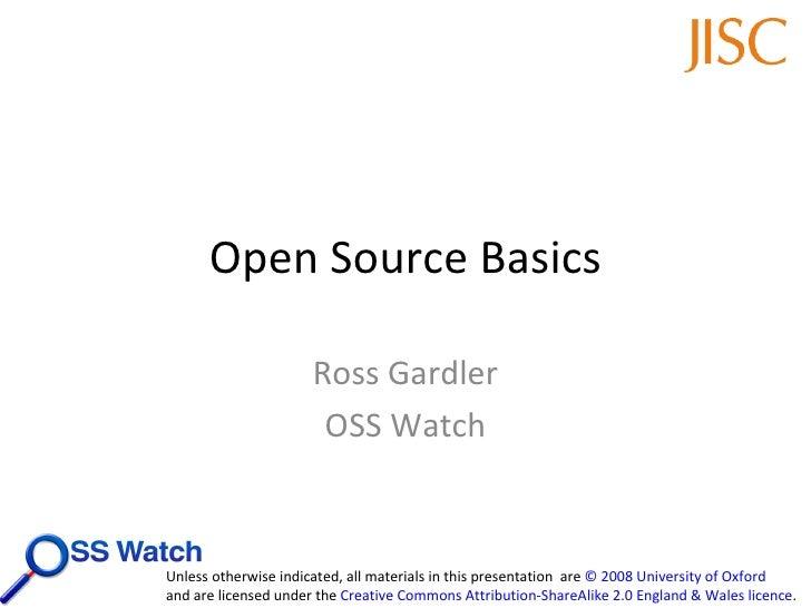 Open Source Basics