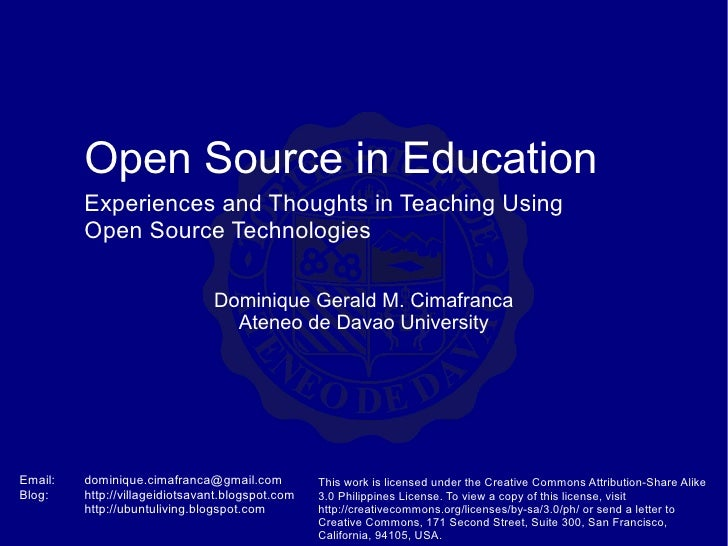 Open Source In Education