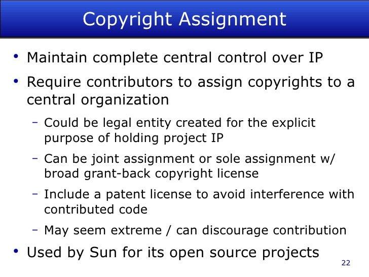 Fsf copyright assignment