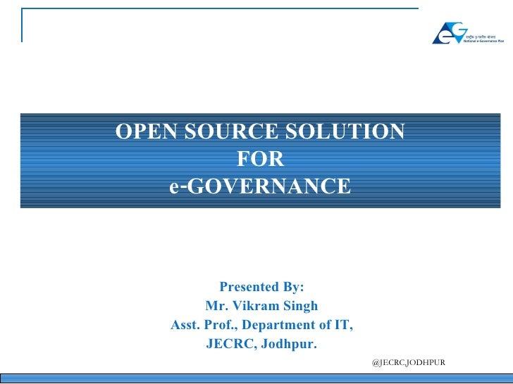 Open Source N Egovernance