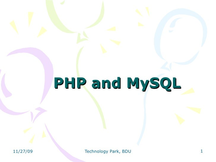 Open Source Package PHP & MySQL