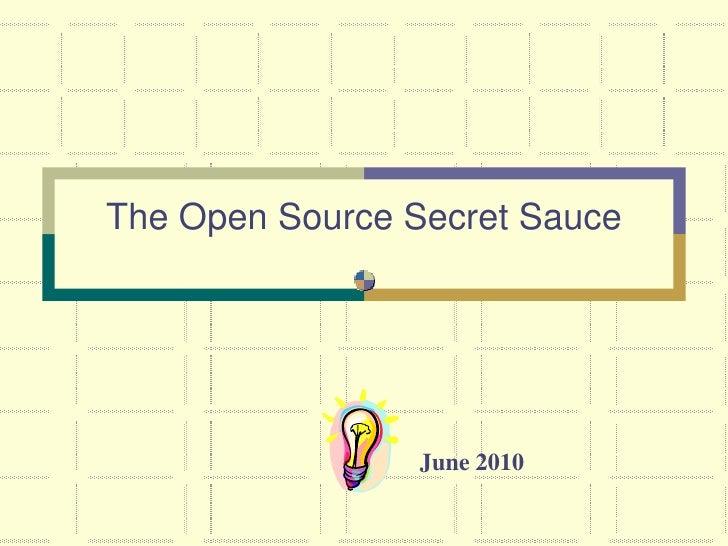 Open source-secret-sauce-rit-2010