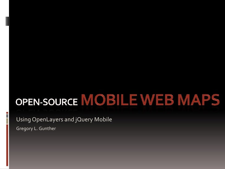 Open source mobile web maps