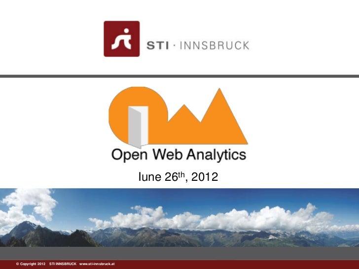 Open web-analytics