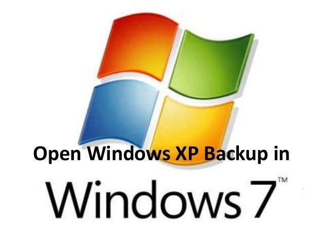 Open Windows XP Backup in