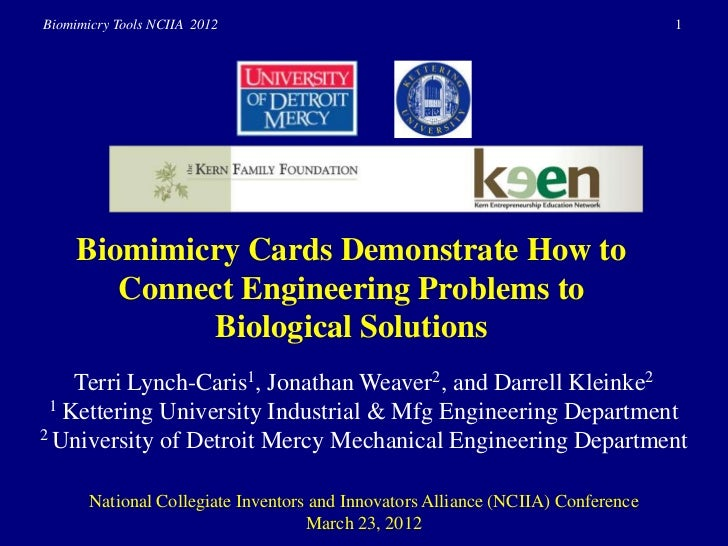 Biomimicry Tools NCIIA 2012                                                       1     Biomimicry Cards Demonstrate How t...