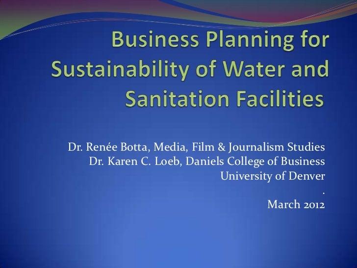 Dr. Renée Botta, Media, Film & Journalism Studies    Dr. Karen C. Loeb, Daniels College of Business                       ...