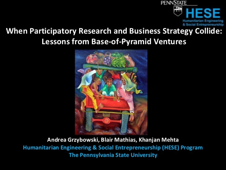 When Participatory Research and Business Strategy Collide:        Lessons from Base-of-Pyramid Ventures           Andrea G...