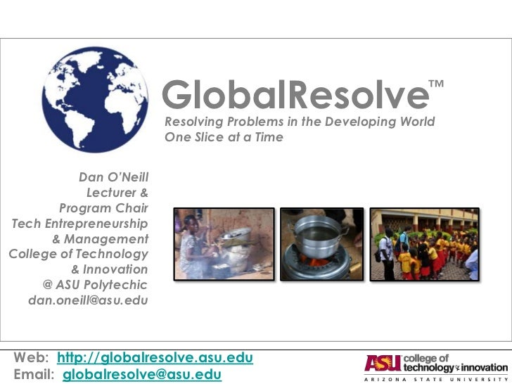 GlobalResolve                           ™                          Resolving Problems in the Developing World             ...