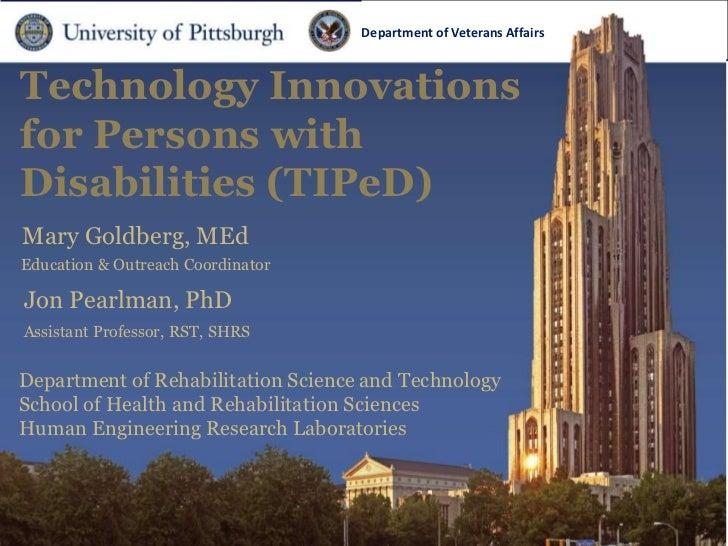 Department ofDepartment                                                 Veterans Affairs   of Veterans AffairsTechnology I...