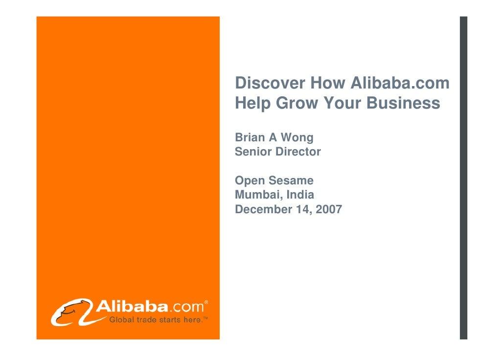 Open Sesame Mumbai December 2007 Presentation