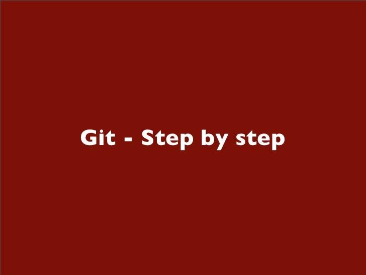 Git - Step by step