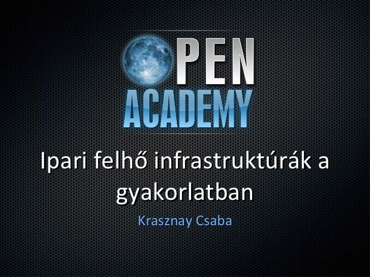 Ipari felhő infrastruktúrák a gyakorlatban <ul><li>Krasznay Csaba </li></ul>