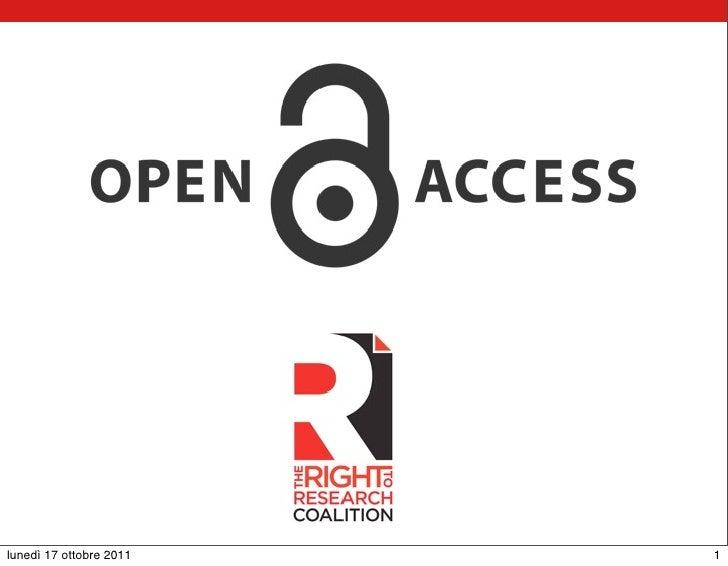 Presentazione SISM Open Access