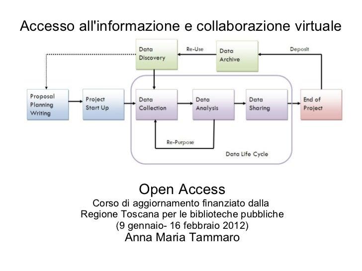 Accesso all'informazione e collaborazione virtuale Open Access Corso di aggiornamento finanziato dalla  Regione Toscana pe...