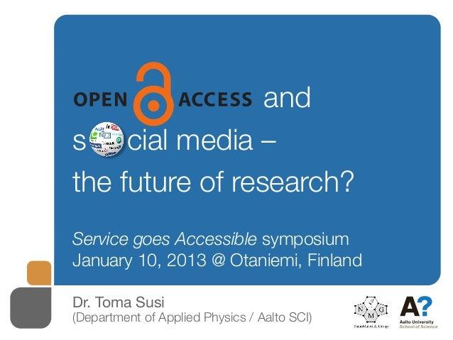 Open access and social media