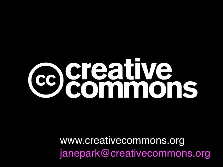 c www.creativecommons.org janepark@creativecommons.org