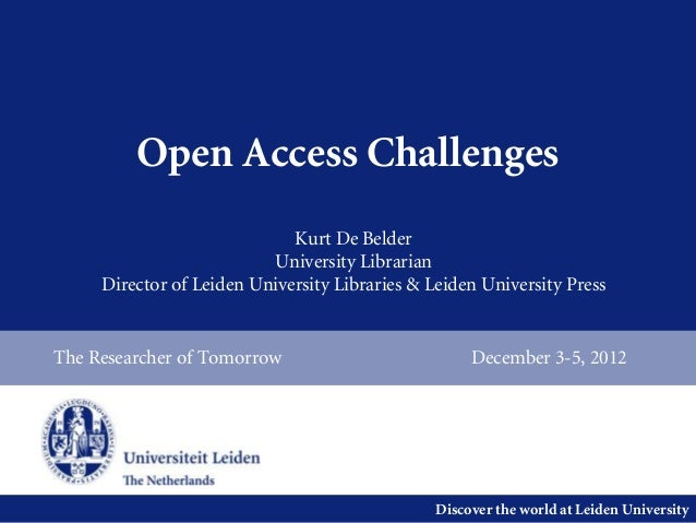 Open Access Challenges