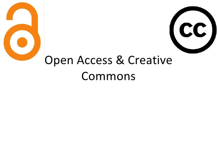 Open access & creative commons