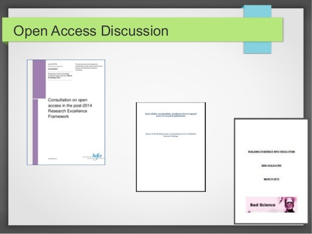 Slides to prompt an Open access discussion