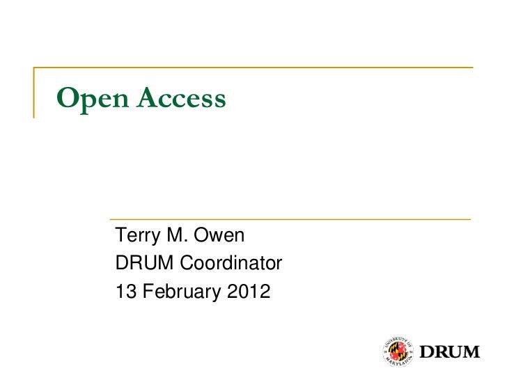 Open accesshlth742