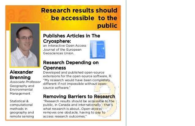 Research results should                     be accessible to the                                    public                ...