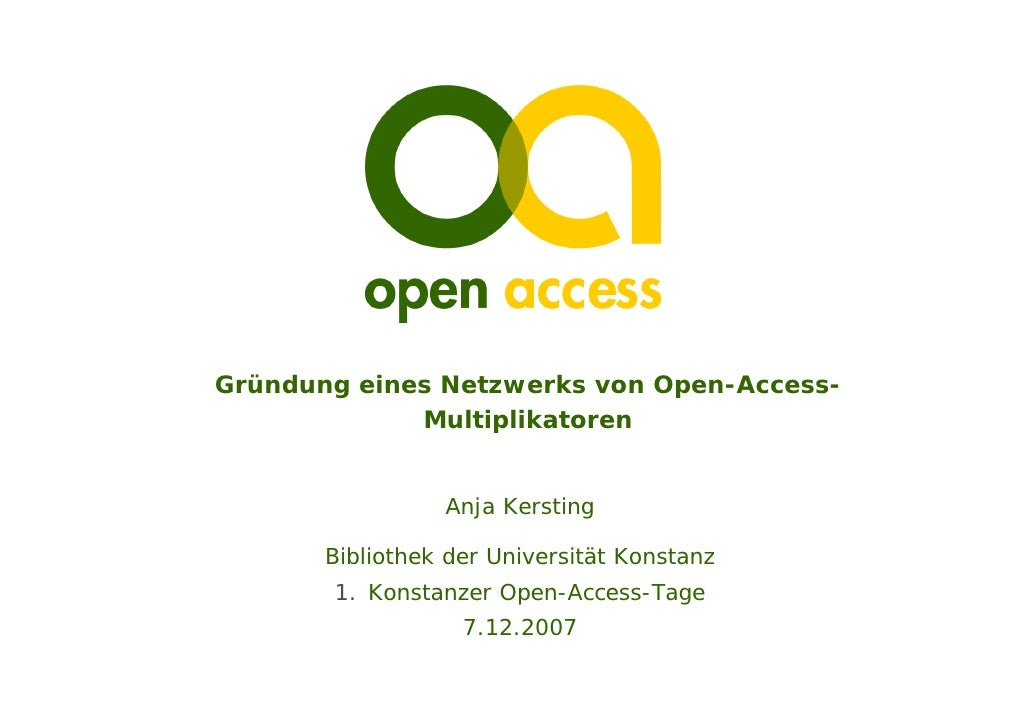 Open-Access-Tage 2007