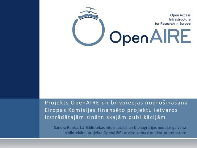 """OpenAIRE at the international workshop """"The significance of institutional repository in progression of research and availability of scientific information"""" on October 28th, 2011"""
