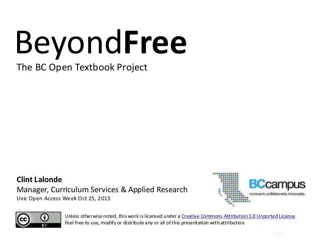 Beyond Free