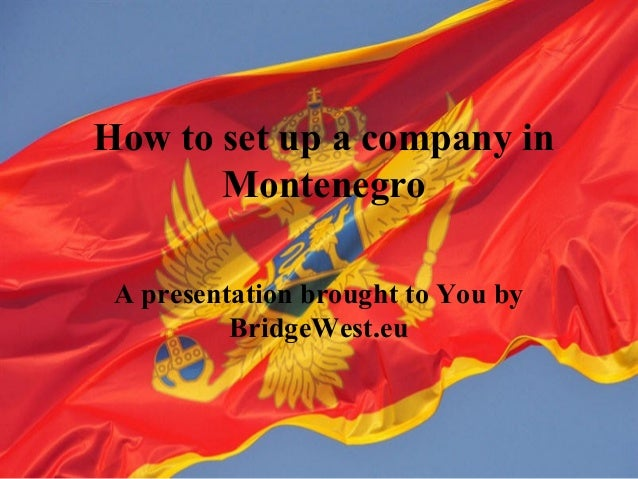 Open a company in Montenegro
