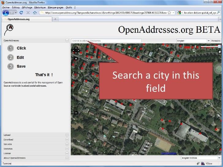 Open Addresses Help