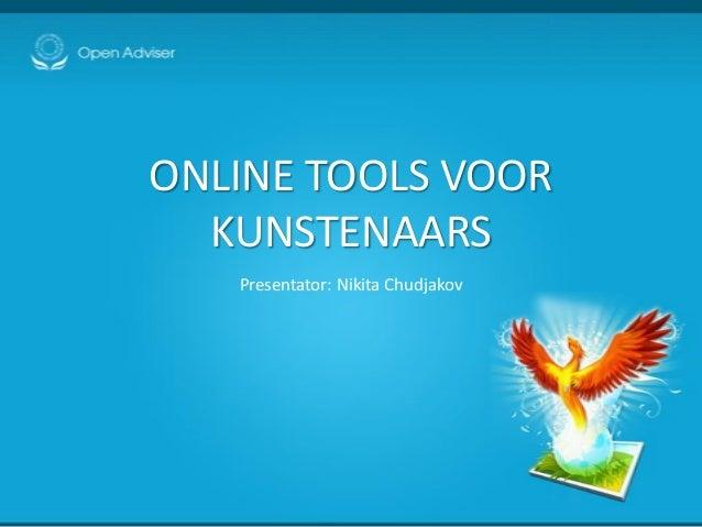 Online tools voor kunstenaars