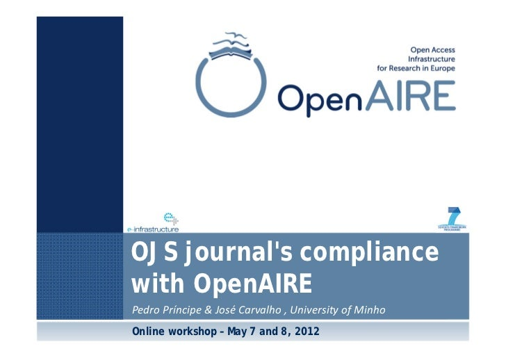 OJS journal's compliance with OpenAIRE