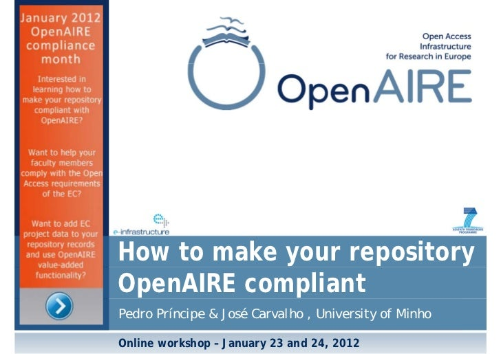 How to make your repository OpenAIRE compliant