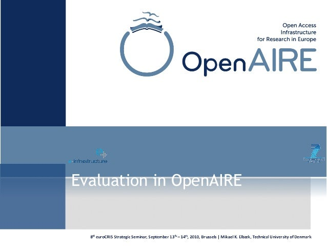 Evaluation in OpenAIRE