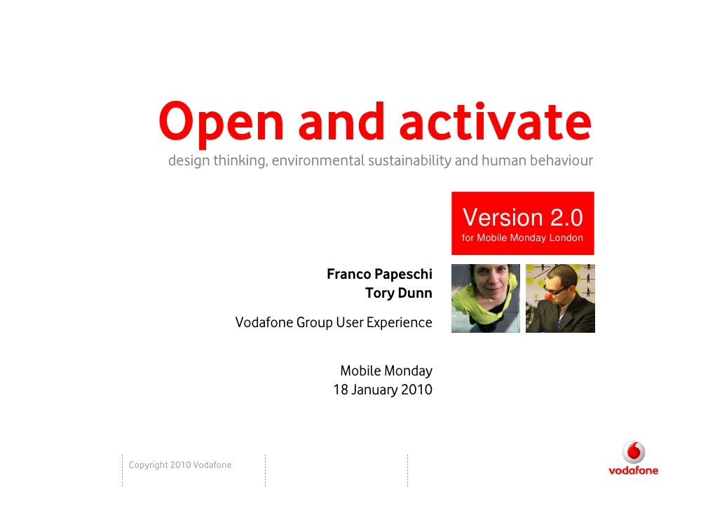 Open And Activate, Mobile Monday, London Jan 2010