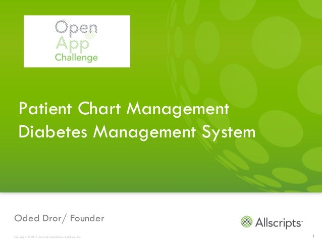 Patient Chart Management  Diabetes Management SystemOded Dror/ FounderCopyright © 2011 Allscripts Healthcare Solutions, In...