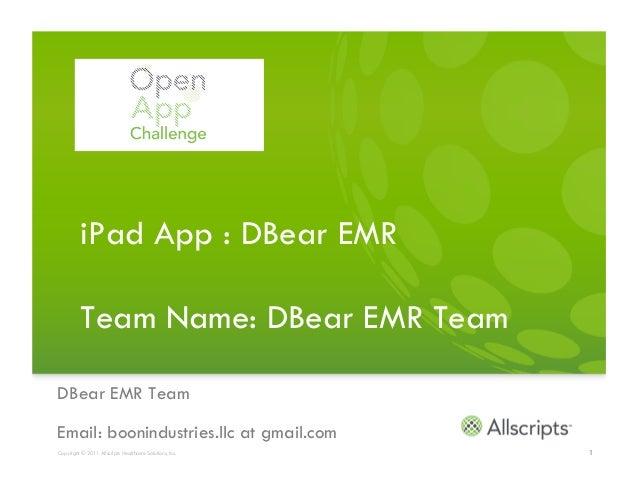 Dbear EMR