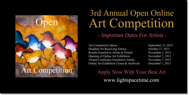 Open Online Art Competition - Event Poster