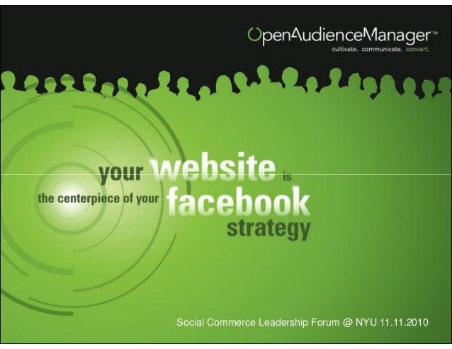 Open Audience Manager Vidar Brekke Presentation - BDI 11/11/10 Social Commerce Leadership Forum