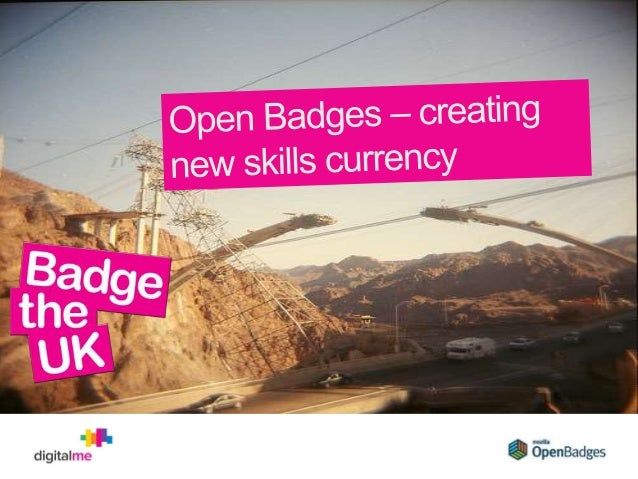 Open badges and Badge the UK