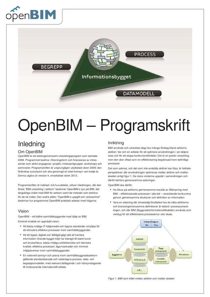 OpenBIM – ProgramskriftInledning                                                                  Inriktning              ...