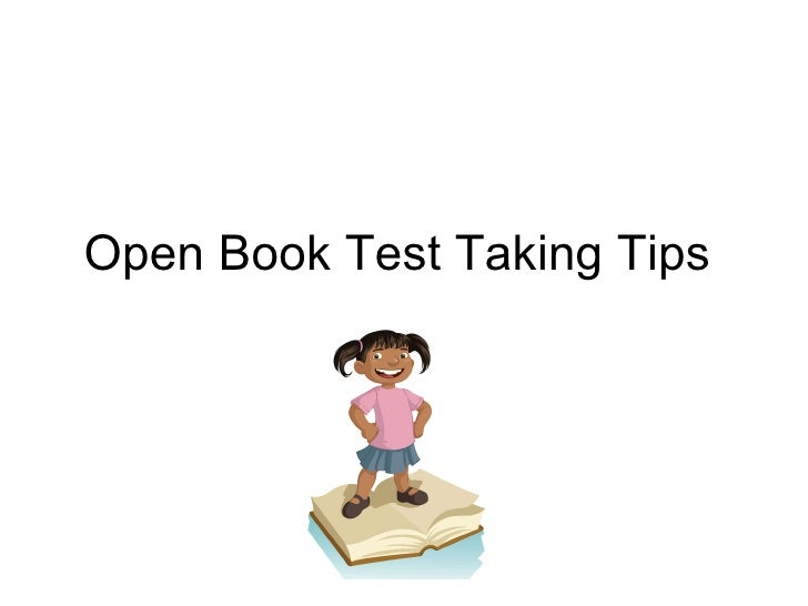 Open Book Test Taking Tips