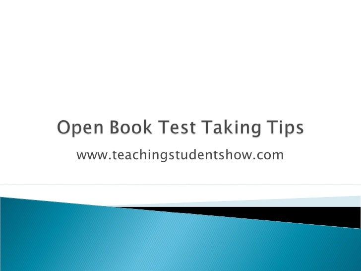 Open book test taking tips97
