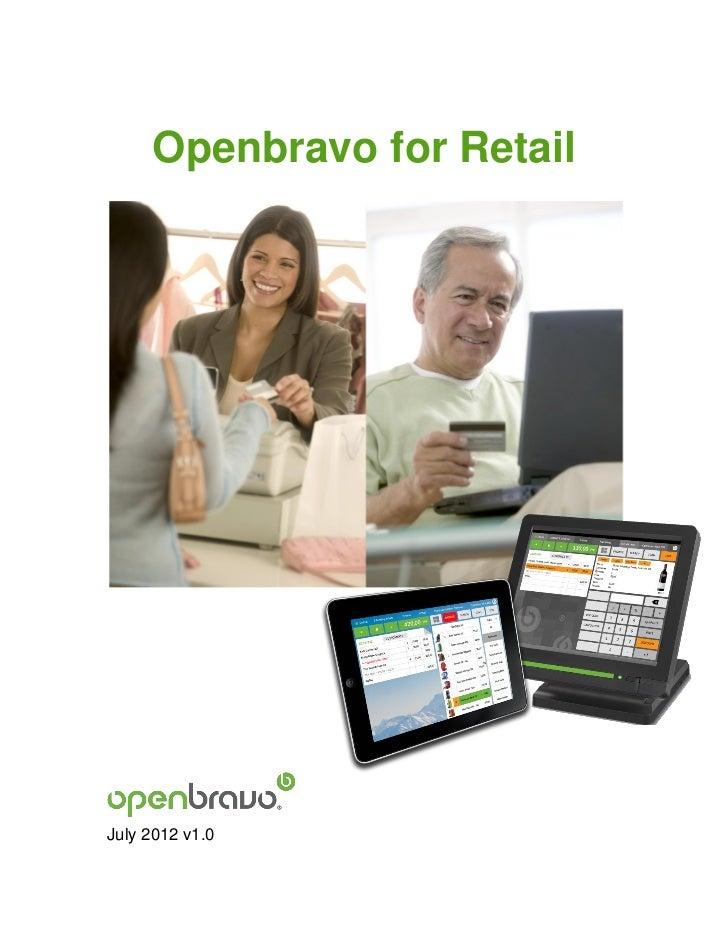 Openbravo for RetailJuly 2012 v1.0