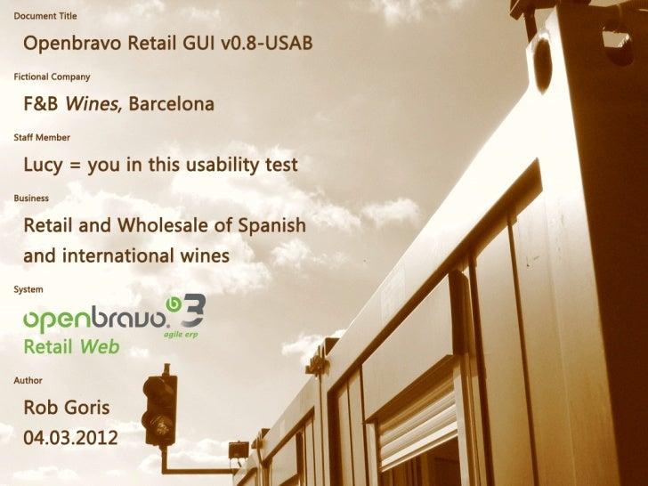 Openbravo Retail POS Web GUI