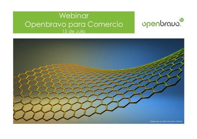 © 2014 Openbravo Inc. All Rights Reserved. Page 1 Webinar Openbravo para Comercio 15 de Julio Graphene (credit: University...