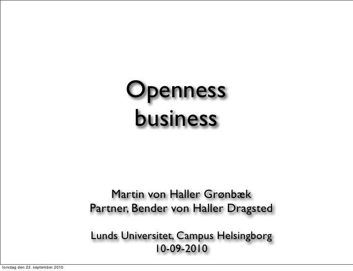 Openness                                         business                                       Martin von Haller Grønbæk ...