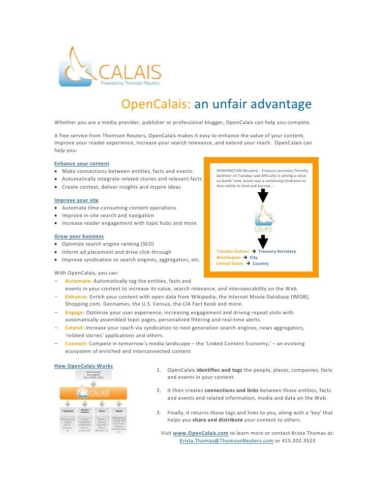Open calais for publishers 9.29.09